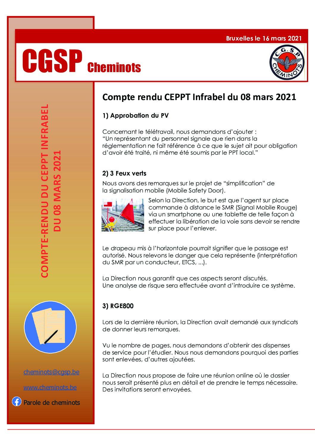 Compte rendu CEPPT Infrabel 08 mars 2021