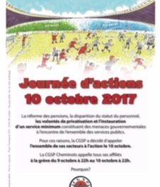 Brochure de mobilisation pour la grève du 10 octobre