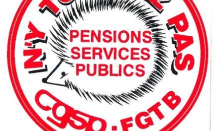 Communiqué de presse «Dossier Pensions – Pénibilité»